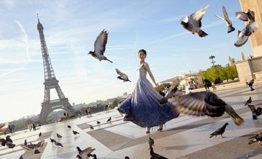 佟丽娅一不小心,美成了法国旅游推广大使,苏菲玛索怎么看?